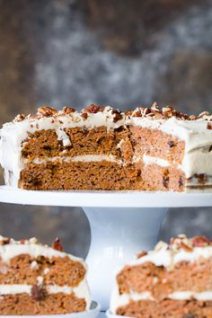 """Paleo Carrot Cake with Coconut """"Cream Cheese"""" Frosting   The Paleo Running Momma"""