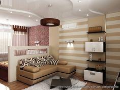 Идеи для маленьких однокомнатных квартир