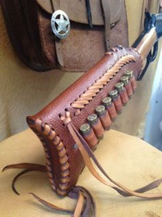 At Gunstock Covers, we make every product from locally sourced premium-grade leather. We incorporate high craftsmanship to create custom gun stock covers. Leather Rifle Sling, Custom Leather Holsters, Leather Pouch, Leather Tooling, Sewing Leather, Leather Pattern, Leather Craft, Rifles, Cowboy Crafts