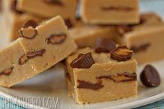 Peanut Butter Cup Fudge   SugarHero.com