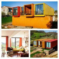 Container House em Castilla y León, Espanha. #arch #casacontainer…