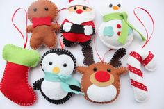 Set Felt Plush Christmas Ornaments