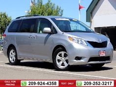 2013 Toyota Sienna LE 4D Passenger Van 61k miles $19,294 61370 miles 209-924-4358 Transmission: Automatic  #Toyota #Sienna #used #cars #TracyToyota #Tracy #CA #tapcars