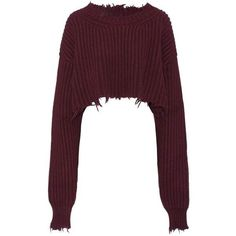 Unravel Wool and Cashmere Cropped Sweater (20.190 ARS) ❤ liked on Polyvore featuring tops, sweaters, shirts, crop top, clothes - tops, purple, cropped sweater, cropped shirts, shirt sweater and cropped white shirt