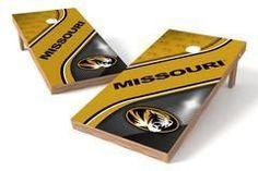 Missouri Tigers Single Cornhole Board - Swirl