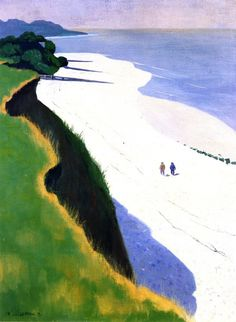 """The White Beach"" by Felix Vallotton"