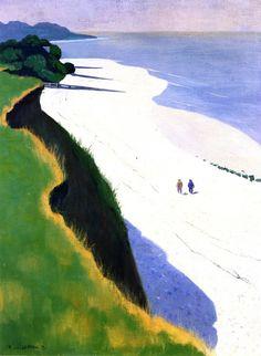 """""""The White Beach"""" by Felix Vallotton"""
