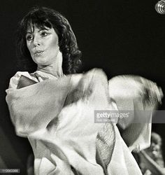 AnniFrid Lyngstad of Abba performs on stage at Ahoy Rotterdam Netherlands 24th October 1979
