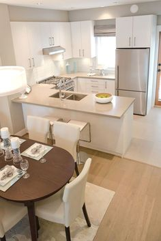 Modern Kitchen Interior Remodeling Small Kitchen Ideas With French Country Style 30 - Small kitchen design ideas should be ways you come up with to save as much space as possible while having […] Small Modern Kitchens, Luxury Kitchens, Cool Kitchens, Contemporary Kitchens, Contemporary Couches, Rustic Kitchens, Contemporary Office, White Kitchens, Contemporary Style