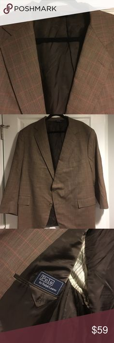Polo by RL 49Short made in USA brown sports jacket Super sharp jacket. Looks better in person than in this picture. Sleeve are taken in. I can provide measurements if you need them. Please ask if interested. Polo by Ralph Lauren Suits & Blazers Sport Coats & Blazers