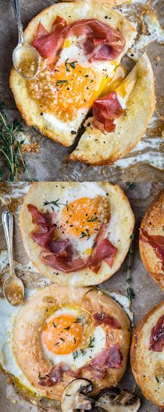 Meet your new favourite breakfast! These sheet-pan baked eggs-in-a-bagel-hole are easy and quick to prepare