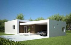 60 Fachadas de Casas modernas de un Piso y dos Pisos – Información imágenes #casasminimalistasfachadasde