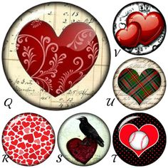 Heart snap charms work with Ginger Snaps by BeaditBracelets