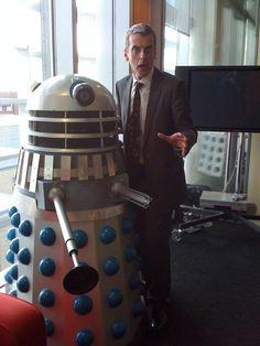 Peter Capaldi & a dalek