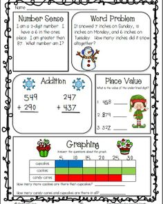 Daily Math Practice for Second Grade--Number sense, word problems, graphing, addition and subtraction, telling time, place value---great for morning work $