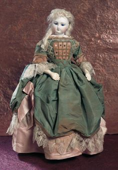 Lady Dolls of the 19th Century: 63 French Bisque Lady Doll in Her Original Cabinet