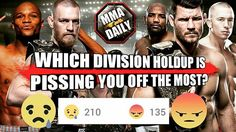 "Yesterday we asked ""Which division holdup is pissing you off the most?"" The Mayweather/McGregor saga won the majority of your votes!! #mma #ufc"