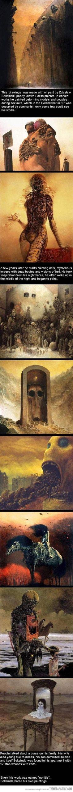 by Bersinski a little known polish artist ... Strangely drawn to these #gothic #horror #darkness: