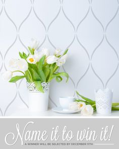 Name it to Win it! Win this wall stencil pattern if we select your name. http://blog.cuttingedgestencils.com/name-it-and-win-it-a-new-moroccan-wall-stencil.html