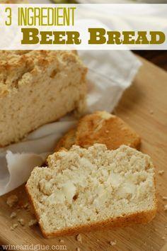 Three Ingredient Beer Bread | www.wineandglue.com | Beer Bread that could not be more simple!