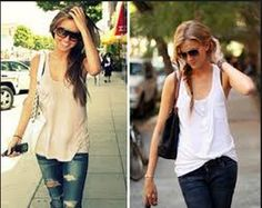 Pony Hairstyle on Tank Top