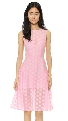 Line & Dot Polka Dot Dress