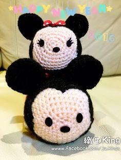 Disney Tsum Tsum Mickey & Minnie #Mickey #tsum #minnie #handmade #JQKings…