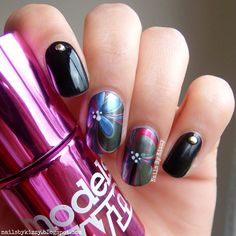 Nails By Kizzy: Classy Water Marble Flowers