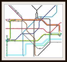 London Underground Subway Map Cross Stitch Pattern
