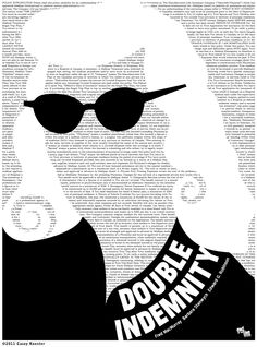 Double Indemnity (1944) - poster by Casey Koester