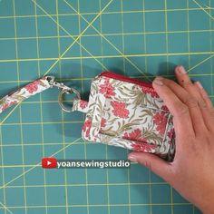 Diy Bags Patterns, Handbag Patterns, Sewing Patterns, Small Sewing Projects, Sewing Hacks, Sewing Tutorials, Diy Bags Purses, Diy Purse, Wallet Sewing Pattern