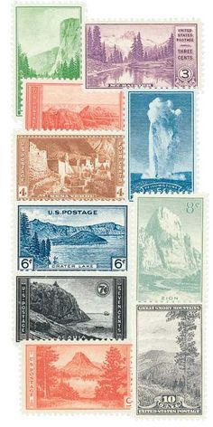 As a stamp collector, President Franklin D. Roosevelt personally oversaw the selection of stamp subjects and designs during his administration.As Roosevelt was reviewing suggestions for the 1934 schedule, Secretary of the Interior Harold Ickes saw an opportunity to advertise the national park system.Ickes felt many Americans were unaware the federal government had set aside vast amounts of land for their enjoyment and for future generations.