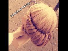 2 min hairstyles tutorial ANLEITUNG..2 dakikada topuz nasil yapilir, (ha...