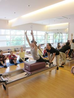 Pilates Breaststroke on the Reformer    #pilates  www.thepilatesflow.com.sg https://www.facebook.com/ThePilatesFlow