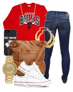 """Chicago"" by trillcoolkid ❤ liked on Polyvore featuring Diesel, Michael Kors, Converse, women's clothing, women's fashion, women, female, woman, misses and juniors"