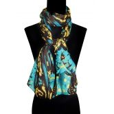Bollywood Accessory- Polyester Abstract Print Scarf /stole / Dupatta (style No: Ba 1192)