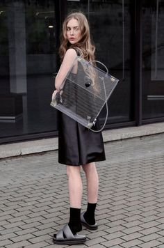 20 Looks with Clear Bags glamhere.com Clear Bag