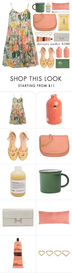 """""""dress under $100"""" by jesuisunlapin ❤ liked on Polyvore featuring Dorothy Perkins, MICHAEL Michael Kors, Hermès, Pine Cone Hill, Lanvin, Aesop, Ana Khouri, Eve Lom, under100 and floralprints"""