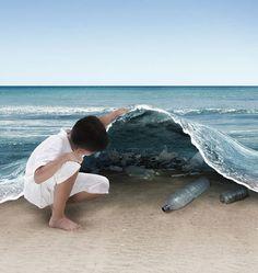 OCÉANOS DE PLÁSTICO - El plástico es un material que la Tierra no puede digerir