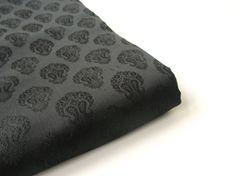 Black silk soft silk brocade black tie silk Indian by SilksByUmf