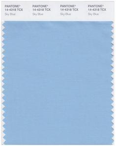 Pantone Smart  Sky Blue  - color on sideboard