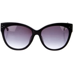 Pre-owned Preen Chelsea Cat-Eye Sunglasses ($75) ❤ liked on Polyvore featuring accessories, eyewear, sunglasses, black, cat-eye glasses, logo sunglasses, preen sunglasses, cateye sunglasses and cat eye sunglasses