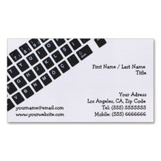 Computer Business Card. Make your own business card with this great design. All you need is to add your info to this template. Click the image to try it out!