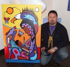 Canadian First Nations Artist Mark Anthony Jacobson