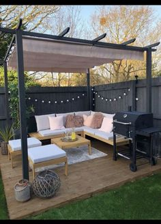 Backyard Seating, Backyard Patio Designs, Outdoor Seating Areas, Landscaping Design, Small Backyard Design, Small Backyard Landscaping, Outdoor Spaces, Outdoor Living Areas, Inexpensive Landscaping