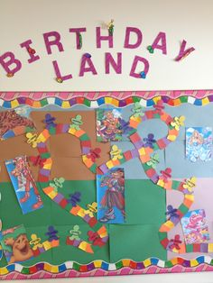 Our Classroom Candyland Birthday Board
