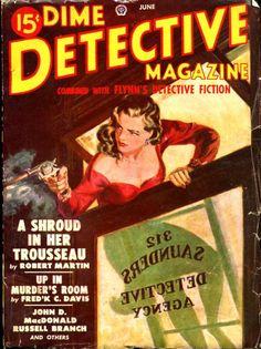 Dime Detective, June 1949. Stories by John D MacDonald and Frederick C. Davis