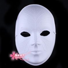 "Blank Face Masks To Decorate This Plain White Zanni Costume Mask Is About 7"" Wide And 10"" Tall"