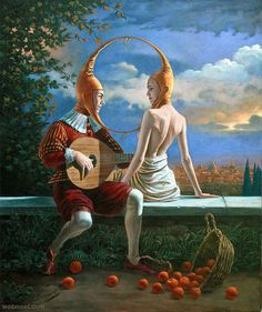 illusion surreal art painting Michael Cheval