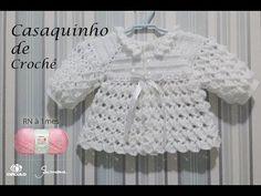 Casaquinho de Crochê para bebê tamanho RN a 1 mês Professora Simone Eleotério - Смотреть видео бесплатно онлайн Crochet Baby Sweaters, Crochet Baby Cardigan, Crochet Coat, Booties Crochet, Crochet Baby Clothes, Baby Blanket Crochet, Crochet Rugs, Crochet Beanie, Crochet Motif